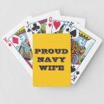 Esposa orgullosa de la marina de guerra de los nai cartas de juego