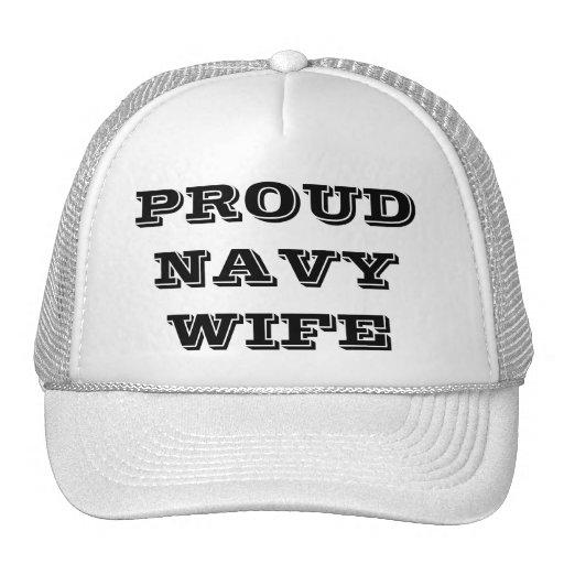 Esposa orgullosa de la marina de guerra del gorra