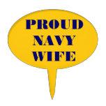 Esposa orgullosa de la marina de guerra del primer figura de tarta