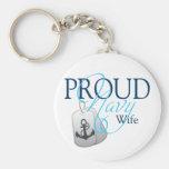 esposa orgullosa de la marina de guerra llavero personalizado
