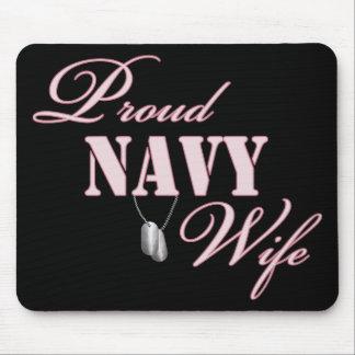 Esposa orgullosa de la marina de guerra alfombrilla de raton