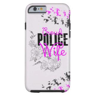 Esposa orgullosa de la policía funda de iPhone 6 tough