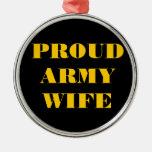 Esposa orgullosa del ejército del ornamento adorno