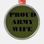 Esposa orgullosa del ejército del ornamento adorno de reyes