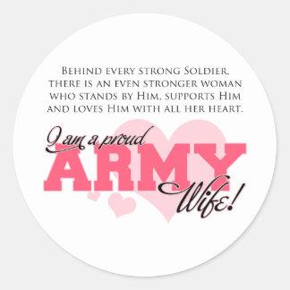 Esposa orgullosa del ejército etiquetas