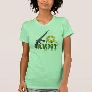 Esposa orgullosa del ejército playeras