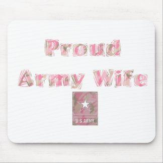 Esposa orgullosa del ejército alfombrillas de ratones
