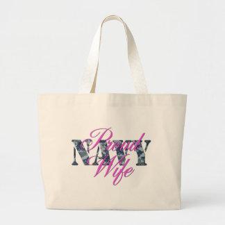 esposa orgullosa NWU de la marina de guerra Bolsa Tela Grande