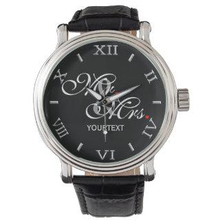 Esposa personalizada del marido su el suyo reloj de mano