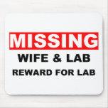 Esposa que falta Labrador Alfombrilla De Ratón