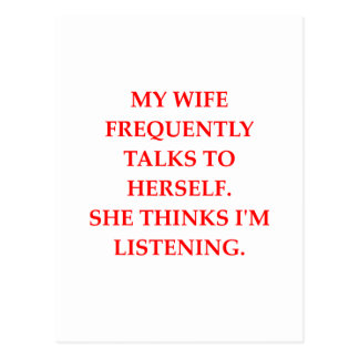 esposa que habla postal