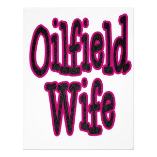 Esposa rosada/negra del campo petrolífero del dama membretes personalizados