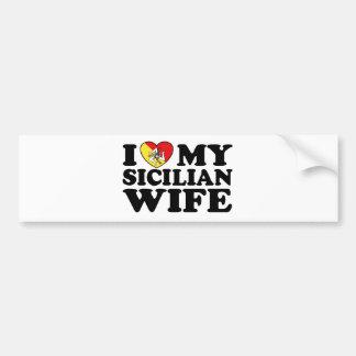 Esposa siciliana pegatina para auto