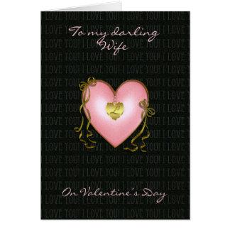 Esposa, tarjeta del el día de San Valentín moderna