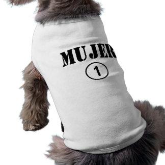Esposas de habla hispana: Uno de Mujer Numero Playera Sin Mangas Para Perro