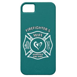 Esposas del bombero del departamento del fuego de  iPhone 5 protectores