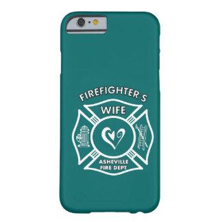 Esposas del bombero del departamento del fuego de funda de iPhone 6 barely there