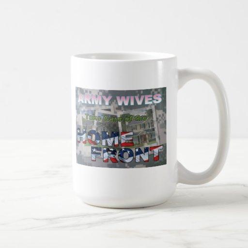 Esposas del ejército tazas de café