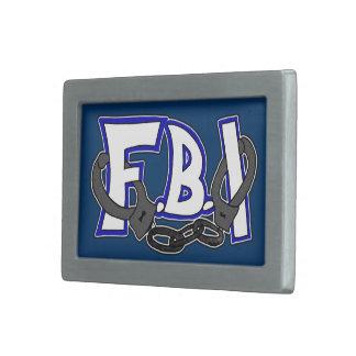 Esposas del FBI Hebilla De Cinturon Rectangular
