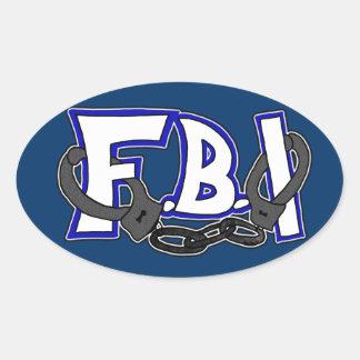 Esposas del FBI Pegatina Ovalada