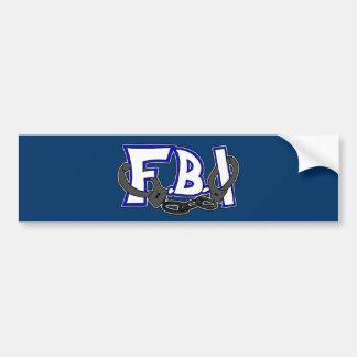 Esposas del FBI Pegatina Para Auto