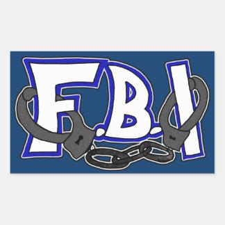 Esposas del FBI Pegatina Rectangular