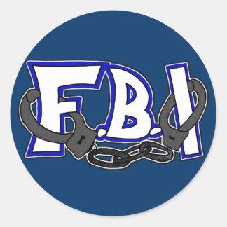 Esposas del FBI Pegatina Redonda