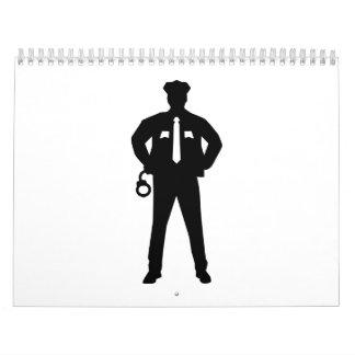 Esposas del oficial de policía calendarios