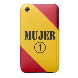 Esposas españolas: Uno de Mujer Numero iPhone 3 Case-Mate Coberturas