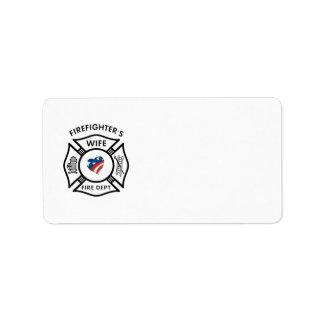 Esposas los E.E.U.U. del bombero Etiqueta De Dirección