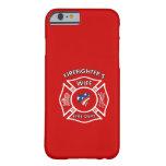 Esposas los E.E.U.U. del bombero Funda De iPhone 6 Barely There