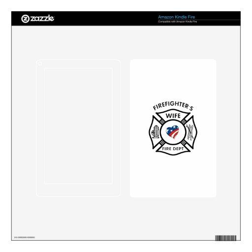 Esposas los E.E.U.U. del bombero Skins Para Kindle Fire