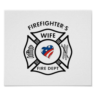 Esposas los E.E.U.U. del bombero Posters
