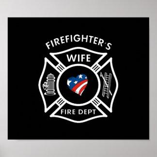 Esposas los E.E.U.U. del bombero Póster