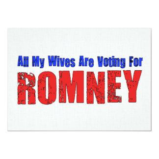 """Esposas para Romney Invitación 5"""" X 7"""""""