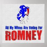 Esposas para Romney Poster