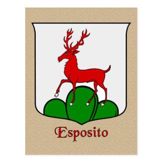 Esposito Family Heraldic Shield Postcard