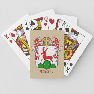 Esposito Heraldic Shield and Mantle Playing Cards