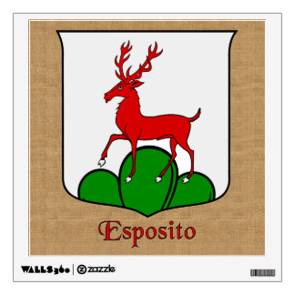 Esposito Historical Shield on Burlap Style Wall Sticker