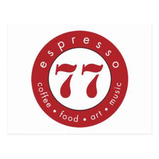 Espresso 77 postcard