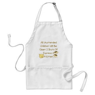 Espresso And A Kitten Adult Apron