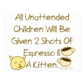 Espresso And A Kitten Postcard