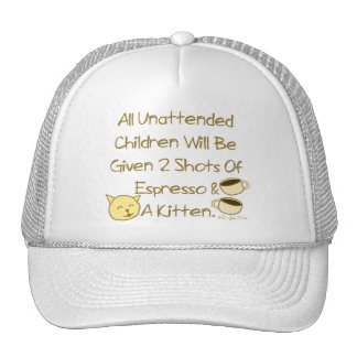 Espresso And A Kitten Trucker Hat