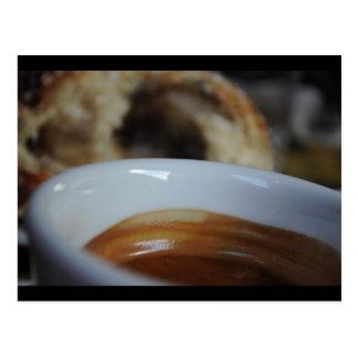 Espresso and Cinnamon-roll Post Card