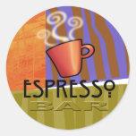 Espresso Bar Fine Art Sticker