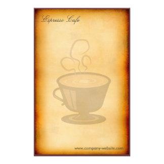 Espresso Cafe Vintage Stationery