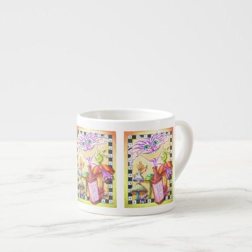ESPRESSO & CHINA CUPS - The WorCHESHIRE CAT 6 Oz Ceramic Espresso Cup