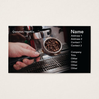 Espresso Coffee 2 Business Card