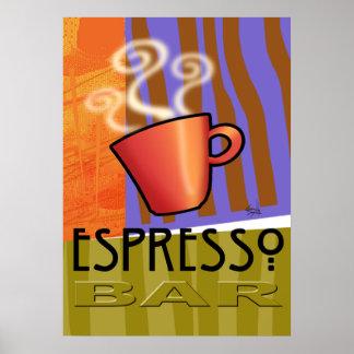 Espresso Coffee Bar - Pop Art Poster
