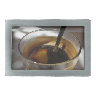 Espresso coffee with rum, sugar and lemon rind belt buckle